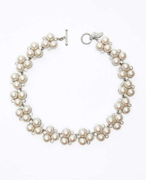 Heirloom Pearl Cluster Necklace from Ann Taylor $69