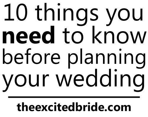 10 things I wish I knew before wedding planning - this post just made me 100% better, I'm not going crazy after all!