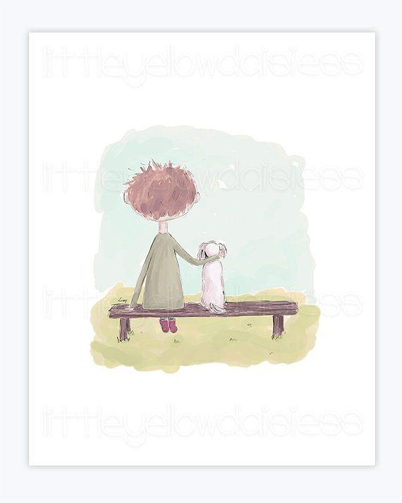 Printable Kids Art''Best Friends''Children by LittleYellowDaisiess