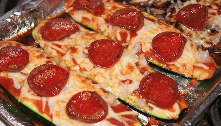 Zucchini Pepperoni Pizza - 2 Smartpoints - Weight Watchers Recipes