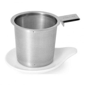 Ein vielseitig verwendbarer Filter mit dem passenden Unterteller. Passend für jede Tasse und jeden Tee!