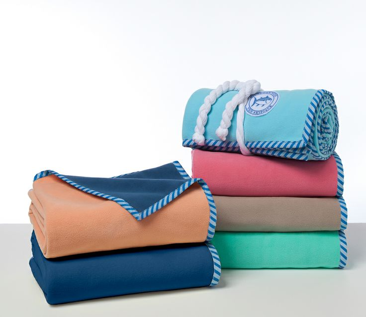 the reversible fleece throw by southern tide