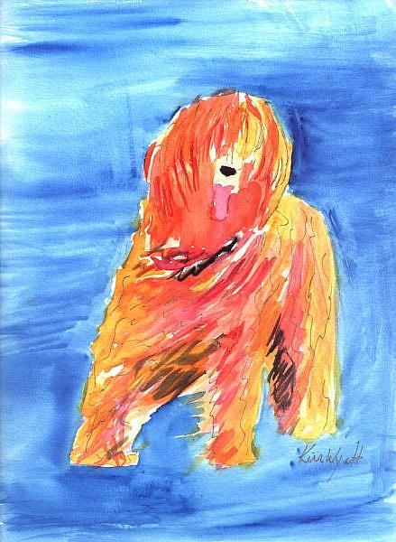 Art: Orange Briard by Artist Kim Wyatt