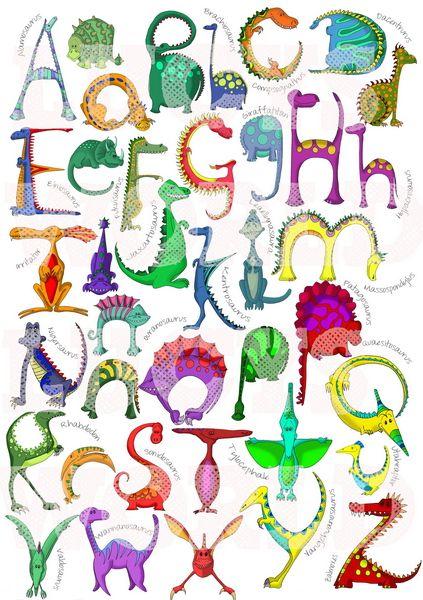 Dinosaur Alphabet Poster Dinosaur Crafts Dinosaur