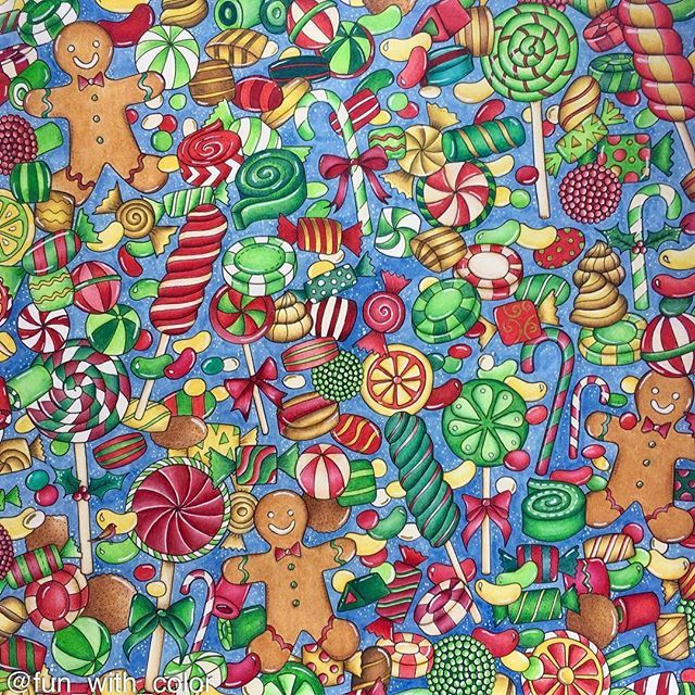 Christmas Candies Johannabasford Johannaschristmas Polychromosjohannabasford Repost Bayan Boyan Adultcoloring Adultcolouring Coloring