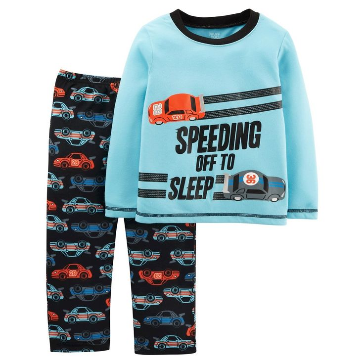 Boys' 2pc Long Sleeve Poly PJ Blue Multi 4T - Just One YouMade by Carter's, Boy's