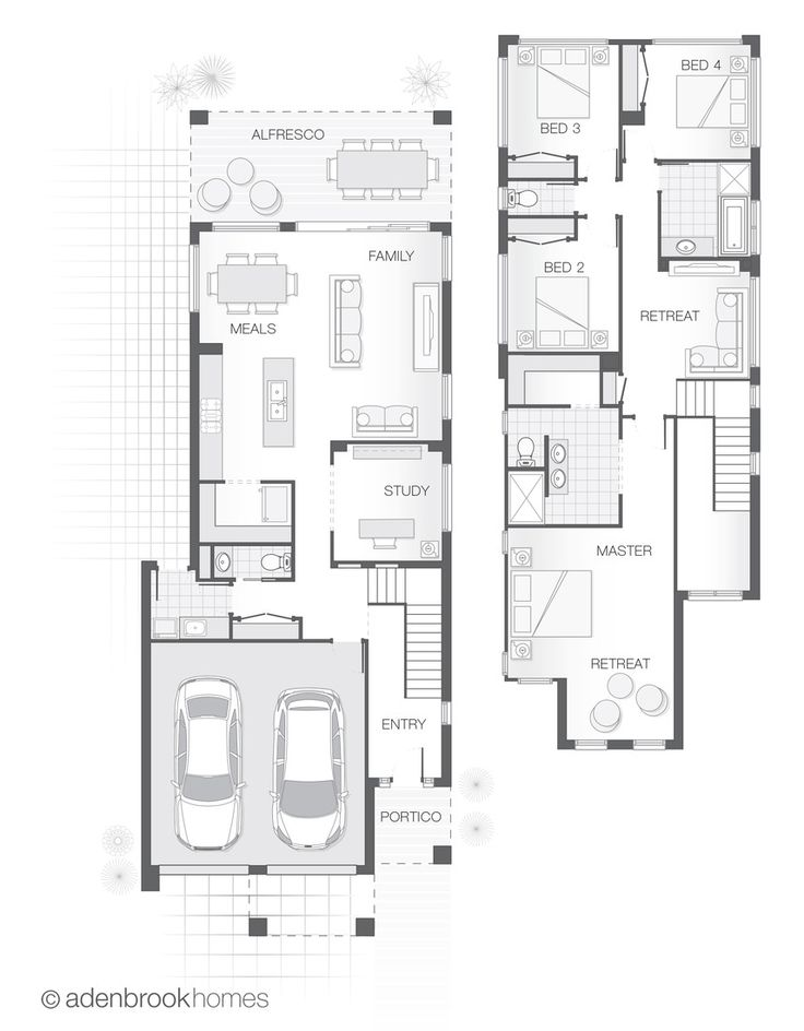 The ASCOT | Standard Design Floor Plan | Adenbrook Homes | Double Storey Home Design | 275.6m2 | 4 Bedrooms, 2.5 Bathrooms, 2 Car garage