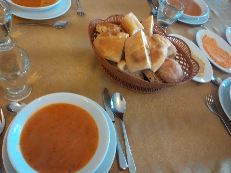 Minestrone Soup with Focaccia Bread