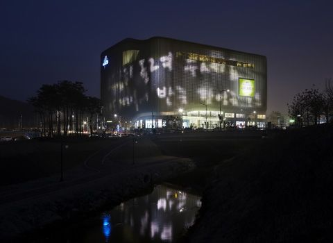 Galleria Centercity in Cheonan - media facade with 22,000 LED light points   Architecture at Stylepark