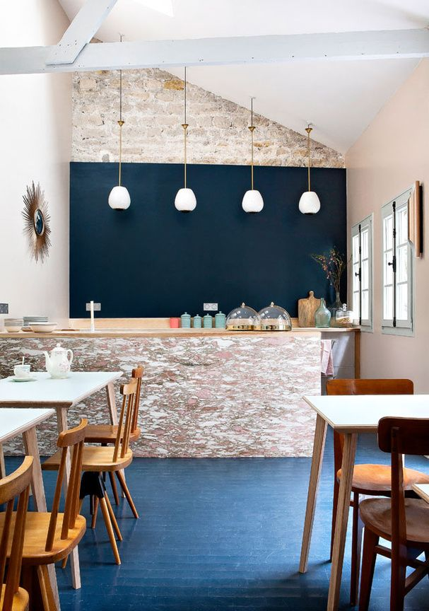 La salle à manger de l'Hôtel Henriette paris