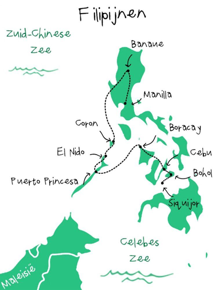 Onze backpack route door de Filipijnen.