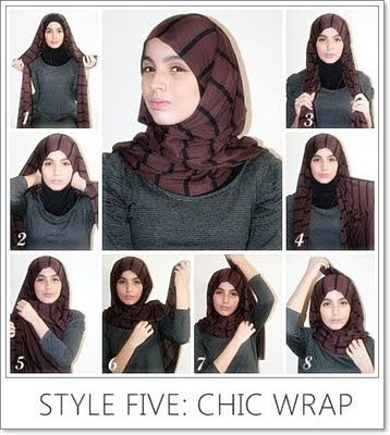 Muslim world's first style guide magazines More fashion information:http://www.AbayaTrade.com chic wrap hijab tutorial