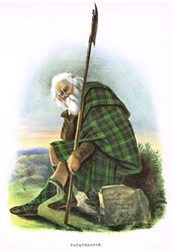 "Clans & Tartans of Scotland by McIan - ""FARQUHARSON"" - Lithograph -1988"
