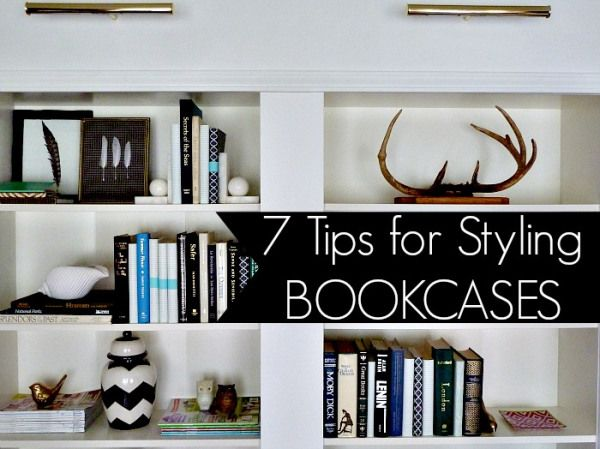 """7 Tips for Styling Bookcases"" Perfect for me and my weird obsession with having a catalogue -esk home"