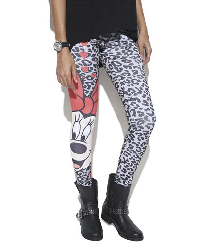 Minnie Mouse Printed Legging | Shop Character at Wet Seal
