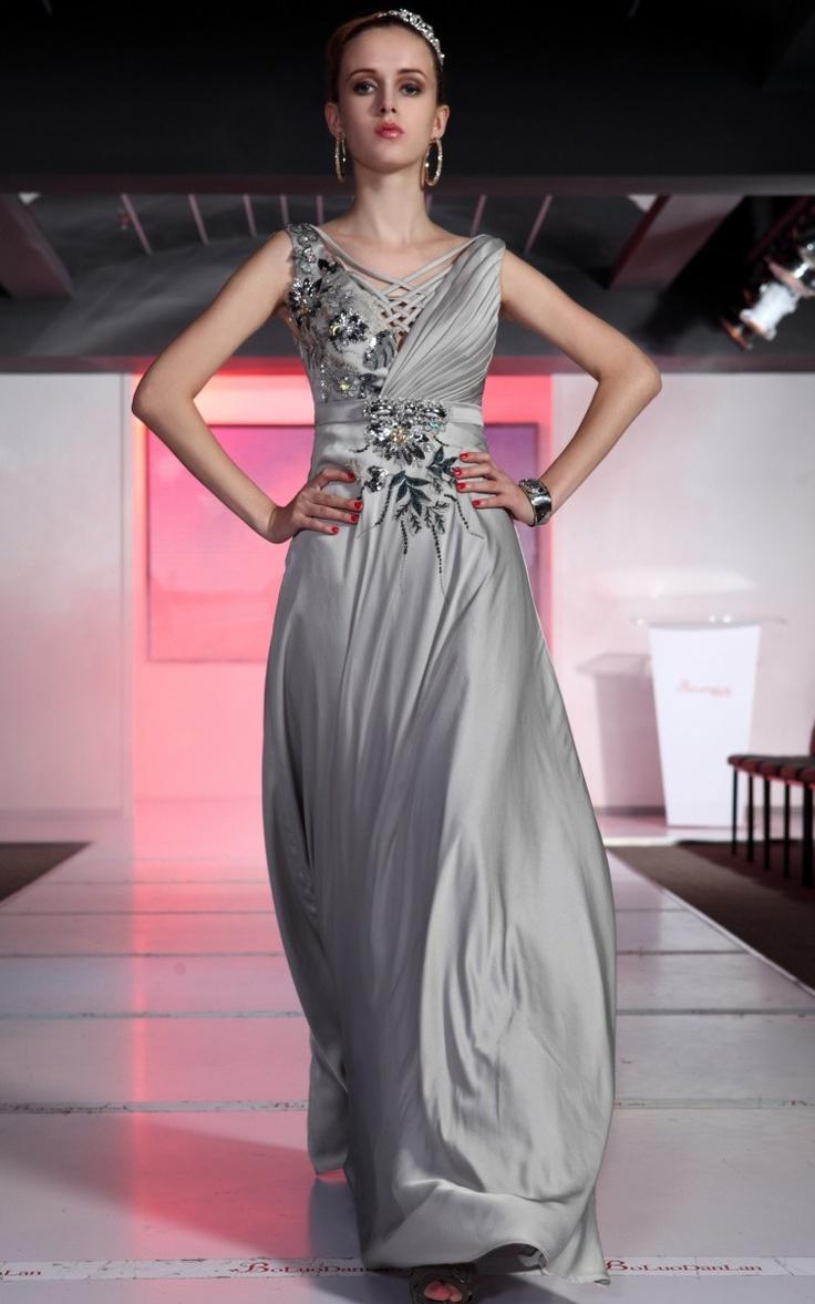 195 best dress images on pinterest elegant bridesmaid ball gray cocktail chiffon flowers long evening dress ombrellifo Gallery