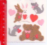 LOVE PUPPIES - CUCCIOLI AMORE 80s Sandylion Canada sticker adesive kawaii fuzzy