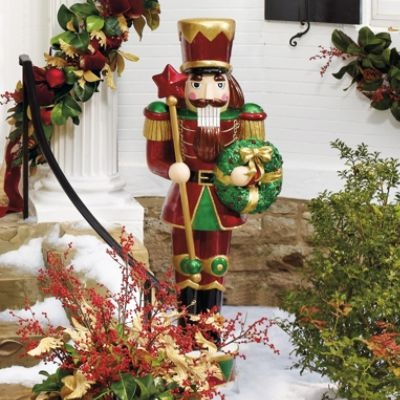 nutcracker with led wreath frontgate even at half price its only in my dreams
