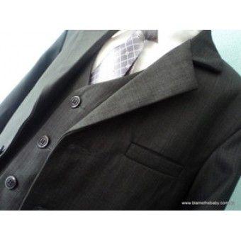 Boys Charcoal Grey Suit: Sz 0 - 20