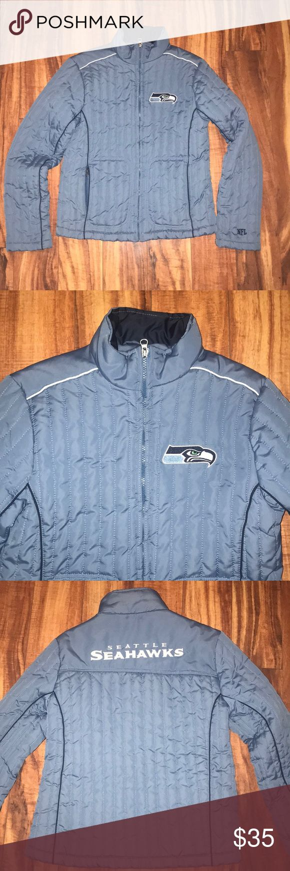 NFL Seattle Seahawks women's jacket puffer coat S NFL Team apparel  Size Small Seattle Seahawks Puffer coat she feels like down, but is polyrster Great condition NFL Jackets & Coats Puffers