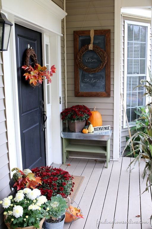 25 best ideas about Outdoor fall decorations on Pinterest