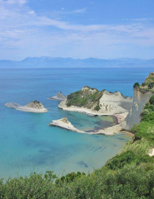 Sand Cliffs and Hidden Beaches, Sidari, Corfu, Greece