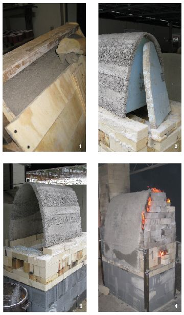 How to Build a Solid Arch Ceramic Kiln with Castable Refractory