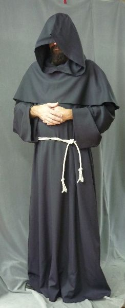 Monk's Robe with removable hooded cowl