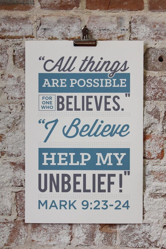 Image result for Mark 9:24
