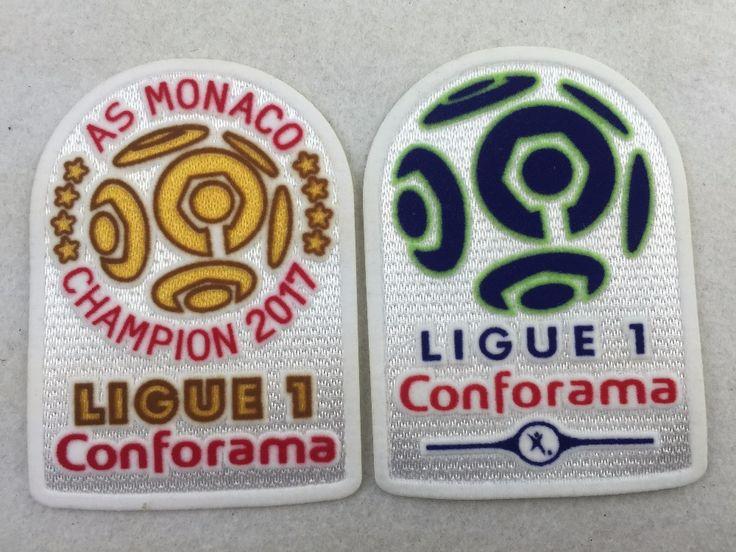 [Power Lock] 1pcs/ lots , NEW France League 1 Monaco 8 Star Champion Golden patch France de football Ligue 1 patch #Affiliate