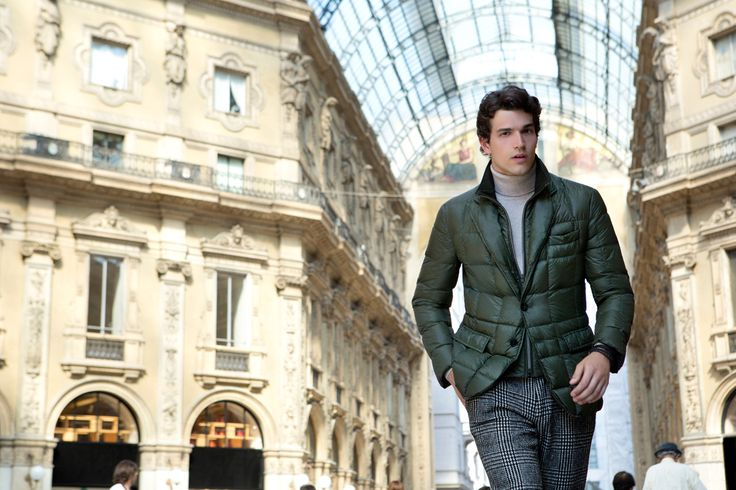 Fay City Diaries features the Men's Fall - Winter 2013/14 collection with the polished backdrop of Milan. Double Front Jacket. http://www.fay.com/it/city-diaries/milano
