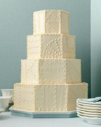 Crazy Quilt Wedding Cake