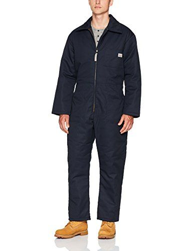 Work King Men's Insulated Coverall, Navy, L Work King