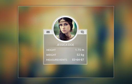 Profile badge #ui design - blury