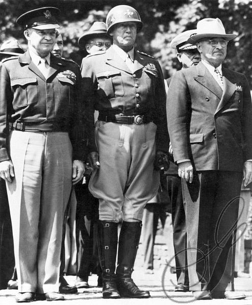 Eisenhower, Patton and Truman.