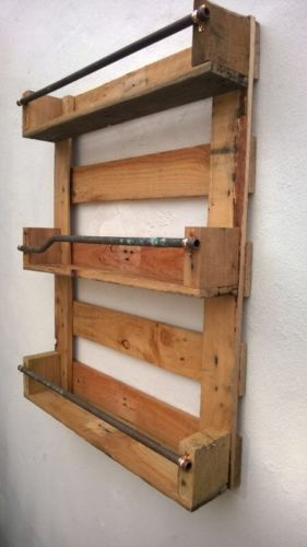 Whisky Rack Shelf, Upcycled Pallet / Crate Handmade Vintage Shabby Chic Kitchen | eBay
