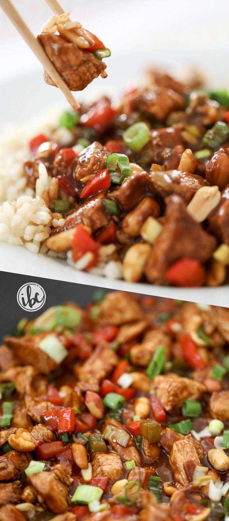 Kung Pao Chicken recipe - homemade easy kung pan chicken dinner recipe