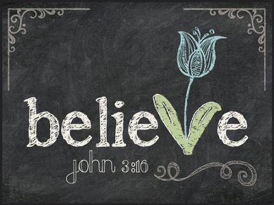 Believe, Chalkboard Wall Art