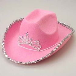 Item: CS-H377 - Pink Cowboy Hat W/Jewels
