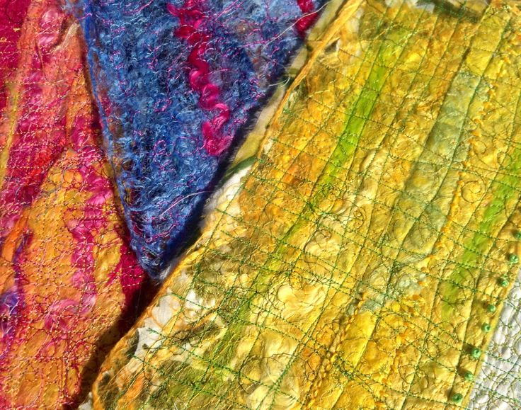 Felting with machine and hand embroidery