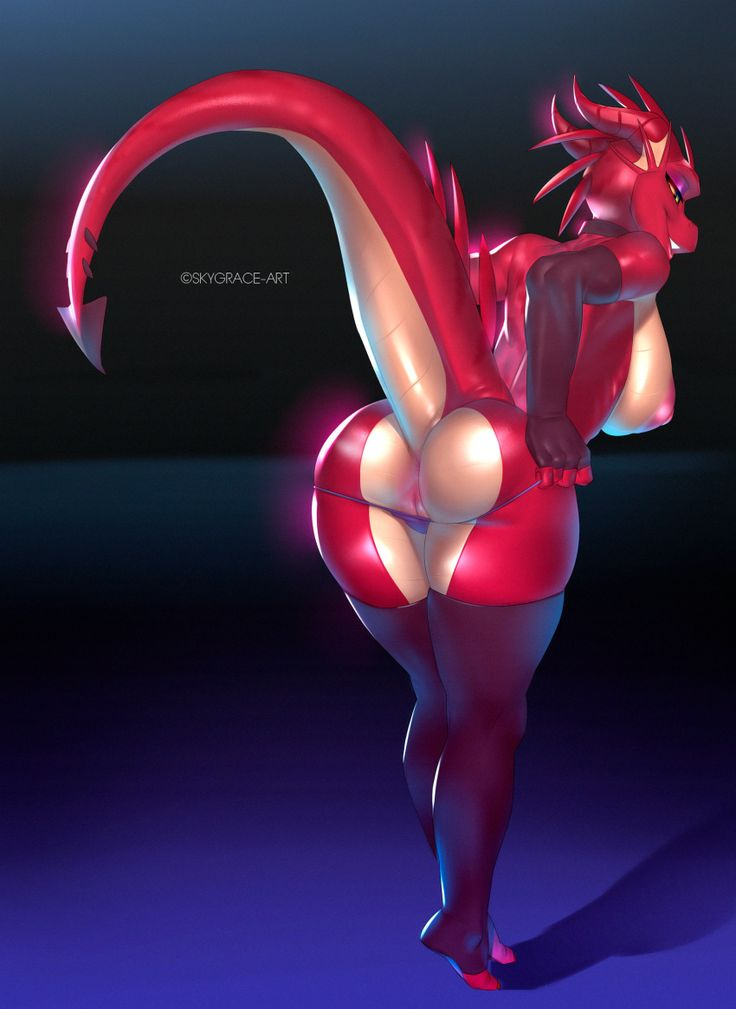 Bunny Furry Porn Panties - 2016 anthro ass big_breasts breasts claws clothing dragon female horn  looking_at_viewer nude panties pussy scalie simple_background