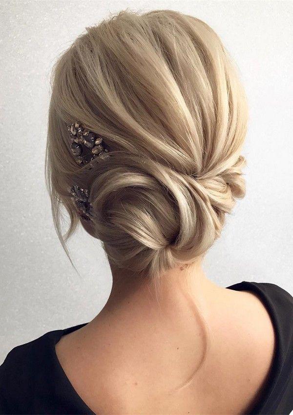 updo wedding hairstyles for medium hair #weddinghairstyles | Hair ...