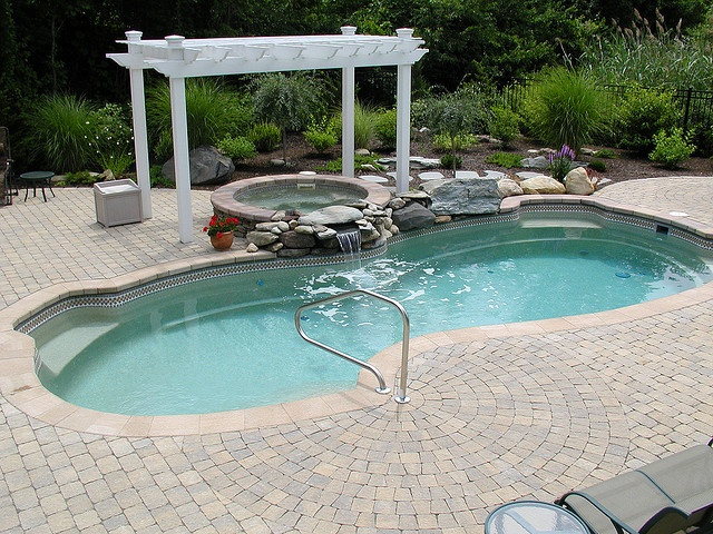 Freeform pool design idea wish this was in your back yard for Ideas to fill in inground pool