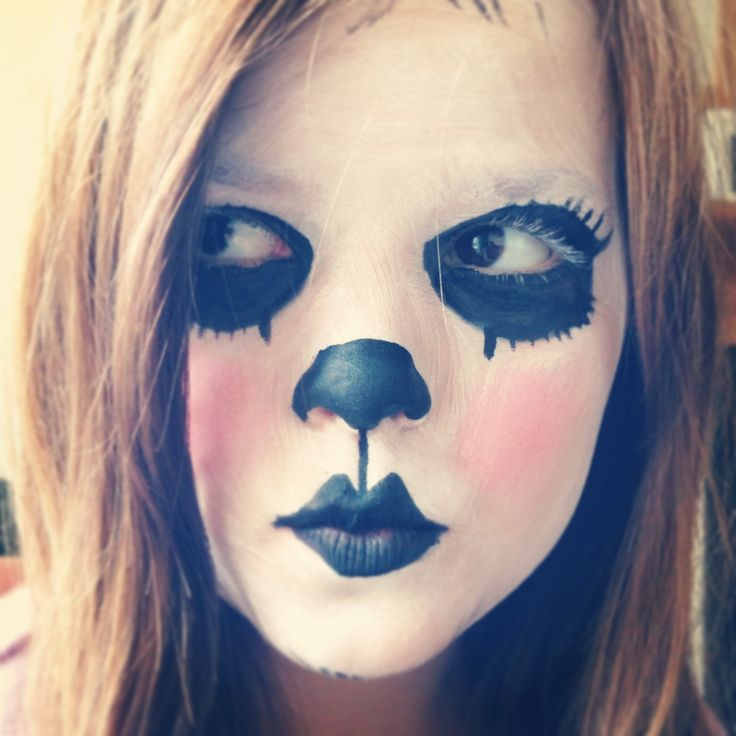 panda face paint henna ideasface paintingshalloween - Halloween Easy Face Painting