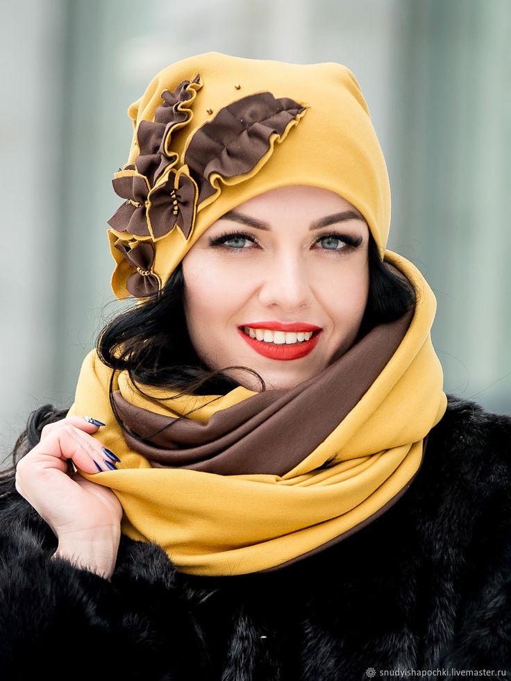 Fleece hat and scarf | Купить Шапка и снуд из трикотажа в интернет магазине на Ярмарке Мастеров