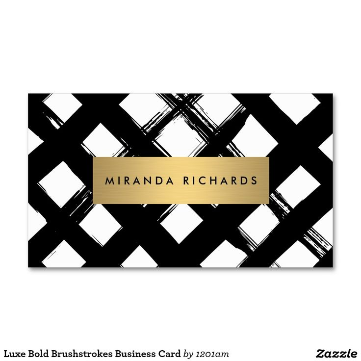 Luxe Bold Brushstrokes Business Card. Maybe with less strokes