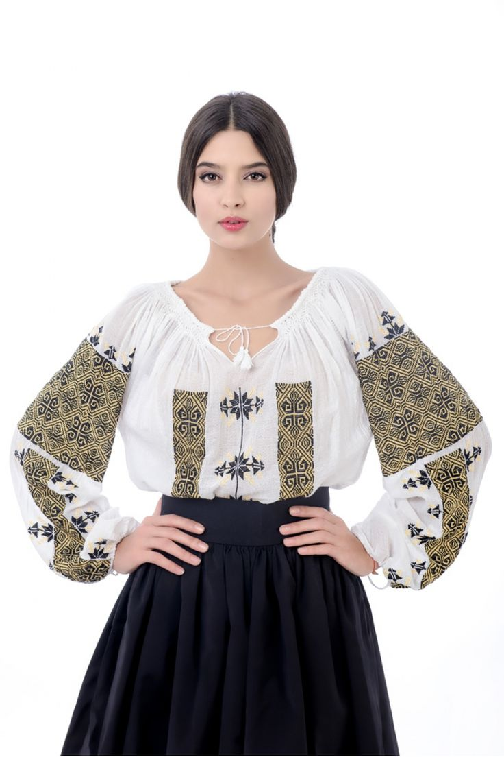 Long-sleeved Traditional Romanian Blouse RL0228