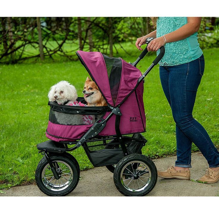 Pet Gear NoZip Double Pet Stroller Boysenberry