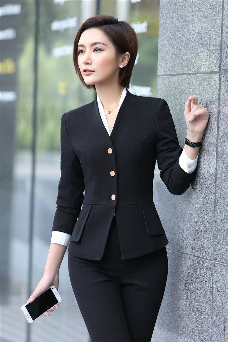 Women S Office Wear Set Includes Jacket Pant Uniform Women
