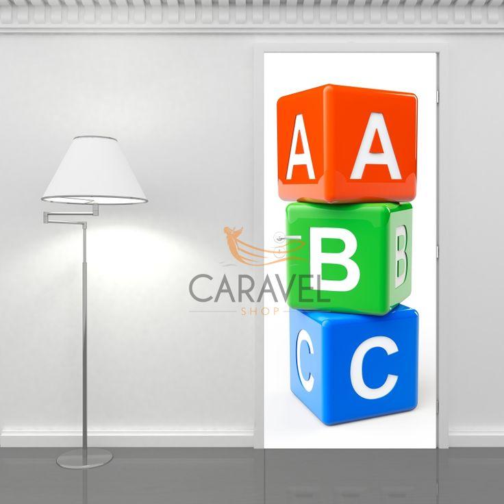 Παιδικό Αυτοκόλλητο Πόρτας παιδικό ABC